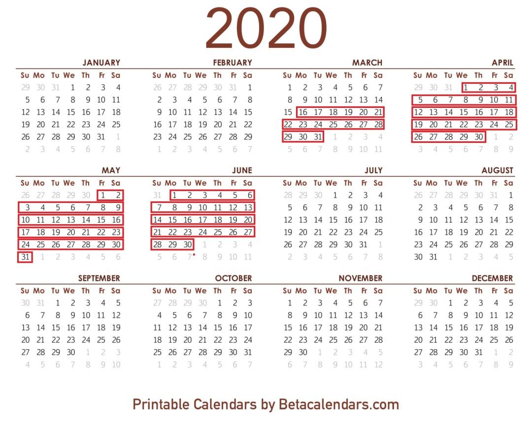 2020-Calendar-Printable